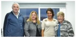 One of our many visits. Left to right - Chris Elliott, Günay Beyzade, Salise Kocak, Margaret Sheard