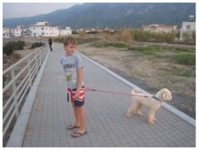 Alex and Harry in North Cyprus