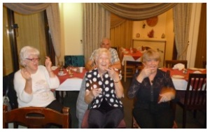 A bit of hand jive - left to right Carole, Brenda, Denise