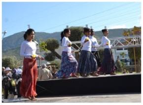 A group of dancers from the Philippines