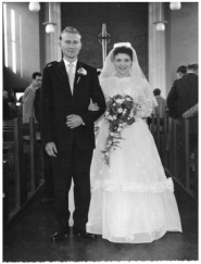 Derek and Shirley on their wedding day