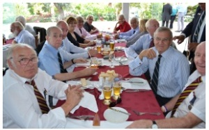 Lunch following 2012 Remembrance Service, Derek front right