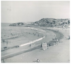 One of the beaches used during free time