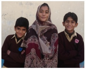 Riaz's daughter and sons