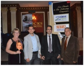 Jenny Tyler (left), Huseyin Tomgusehan (2nd from right) and 2 of the Sponsors