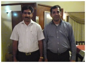 Imtiaz Ahmed (right) and Zafar Isbal