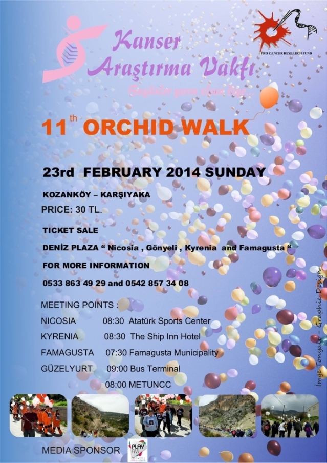 2014 11th Orchid Walk poster