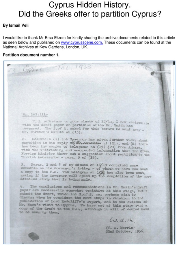 Did the Greeks propose Partition - Original - Documents 1