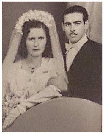 Maria & Nico on their wedding day. October 1952