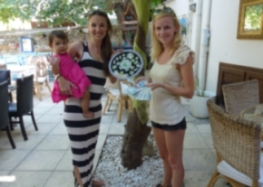Harriett and Kelsey (and baby Amelia), image