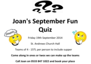 Joans September Fun Qiz image