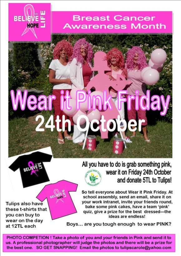 wear it pink friday 2014 poster