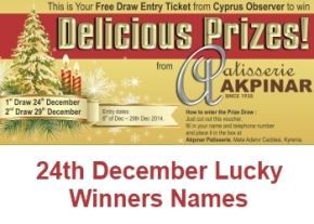 24th December Lucky winners names