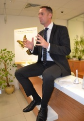 James Swanson talks to the guests