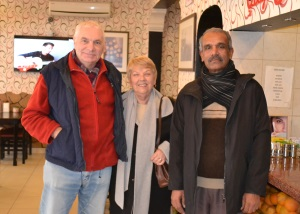 Chris, Margaret and Ahmet