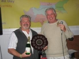 l-r Winning team captain, Stuart Mitchell and Brian Hills