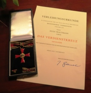 Medal and certificate