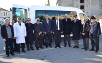 Patient bus donated to Girne Dr. Akçiçek Hospital
