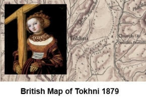 Tokhni on 1879 map 2