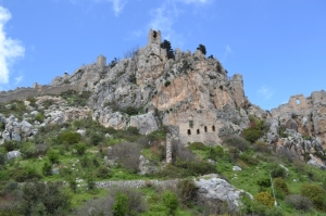 Views of St Hilarion Castle as you walk upward