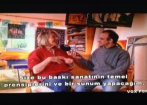 Bidi Mckintyre talking to Engin Dervisaga
