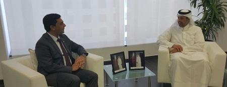 FM Ozdil Nami and Sheikh Ahmed bin Jassim bin Mohammed Al Thani