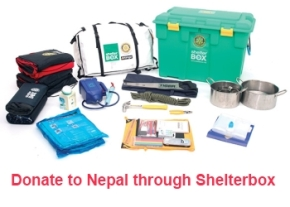 Donate to Nepal through Shelterbox