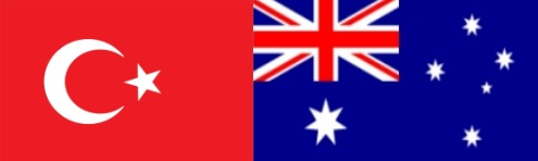 Turkish and Australian flag 500