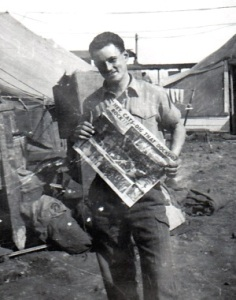 Bob with newspaper - Bill Haley
