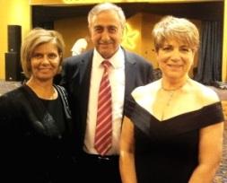 Figen Rasmussen with President Akinci and Meral Akinci