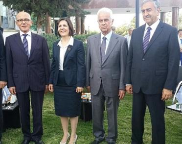 Mehmet Ali Talat, Sibel Siber, Dervis Eroglu, Mustafa Akinci Picture courtesy of Sibel Siber Facebook page