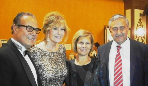 Mehmet and Demetra Mustafaoglu with President Mustafa and Meral Akinci