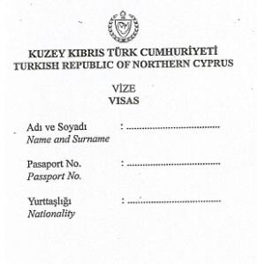 TRNC Paper Visa