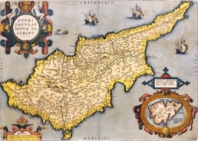A Cyprus  map of 1573 image