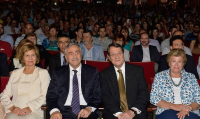 Akinci and Anastasiades attend play