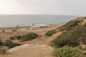 View of the beach retaurant. Esentepe Beach Project Update. 29 June 2015