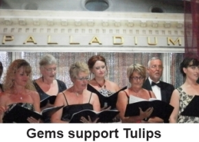 Gems support Tulips