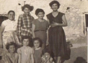 Mum, family and friends in Melusha 1956