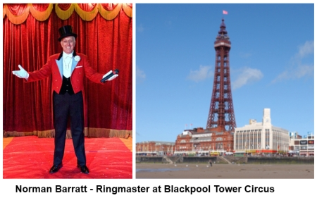 Norman Barratt MBE - Ringmaster at Blackpool Tower Curcus