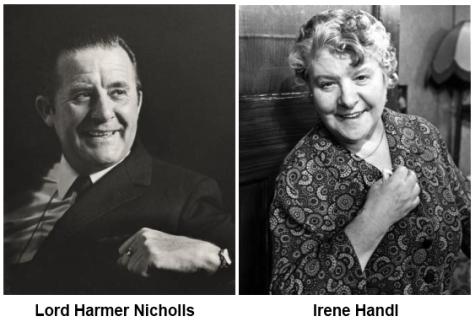 Sir Harmer Nicholls and Irene Handl