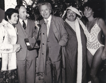With Ruth Madoc Sir Bernard Delfont Paul Shane and Miss Blackpool
