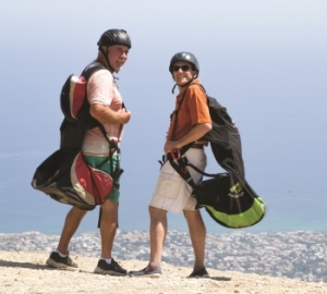 John Graham and Tom Roche ready to jump