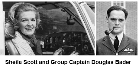 Sheila Scott and Douglas Bader