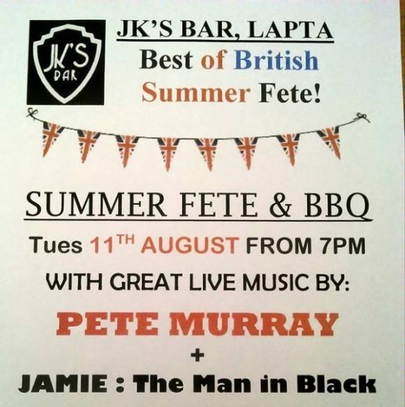 Summer Fete at JK's Bar poster 1
