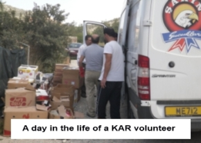 Bringing supplies to KAR rescue center image