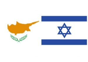Cyprus and Israel flags