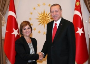 Emine Colak and Recep Tayyip Erdogan image