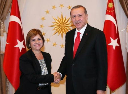 Emine Colak and Recep Tayyip Erdogan
