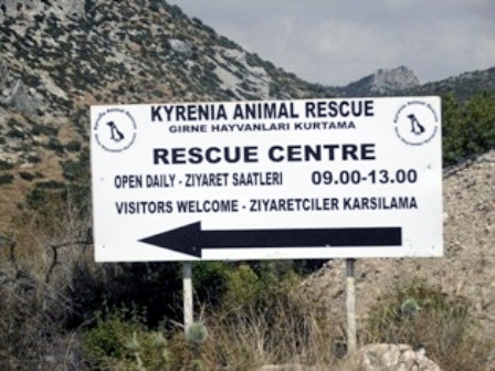 Sign to KAR rescue centre