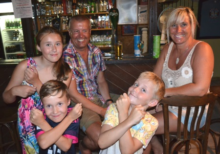 Simon and Tracey Tombs with Emmie, Billy and Harry